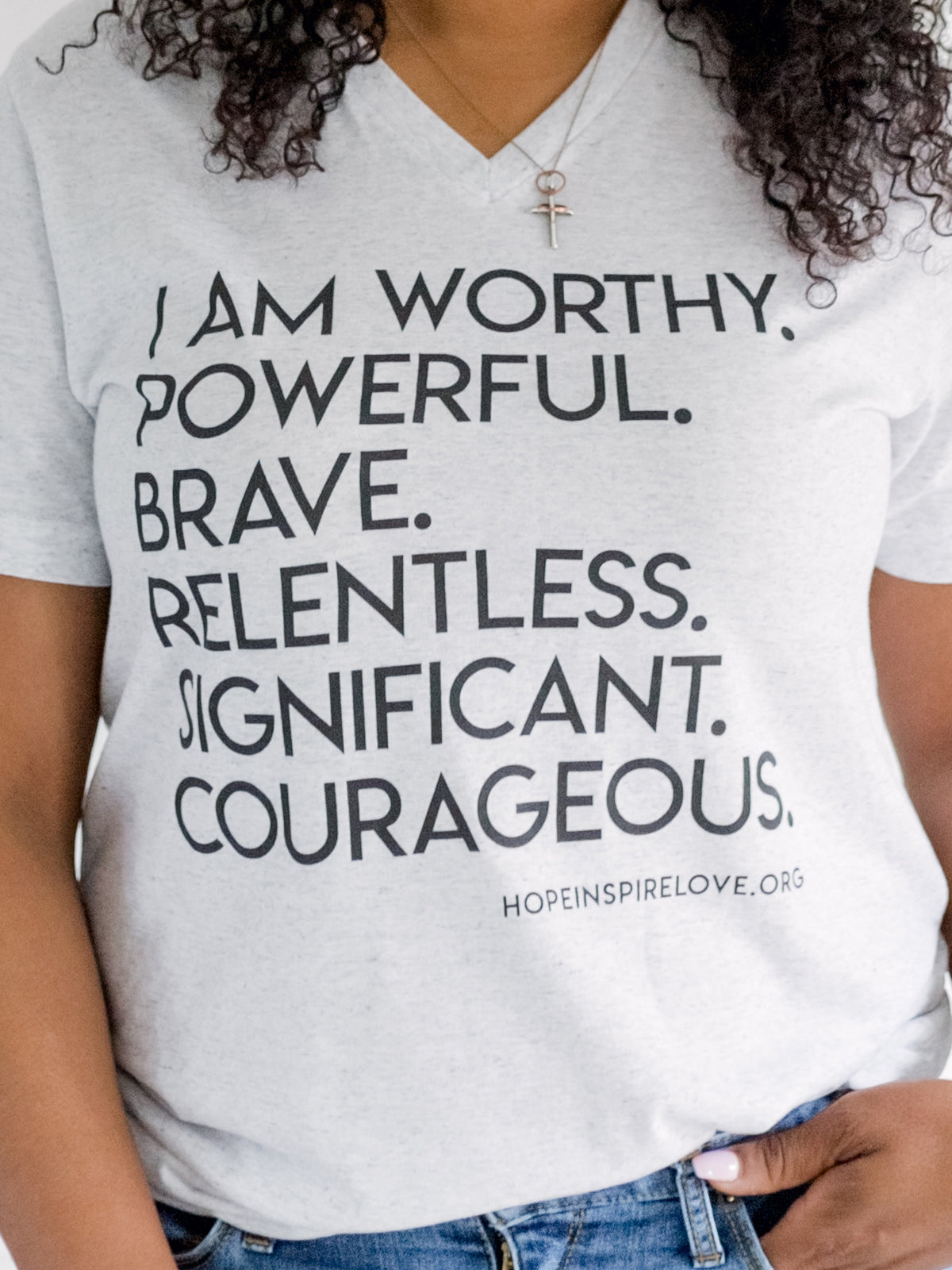 I AM WORTHY - White Short Sleeve T-Shirt