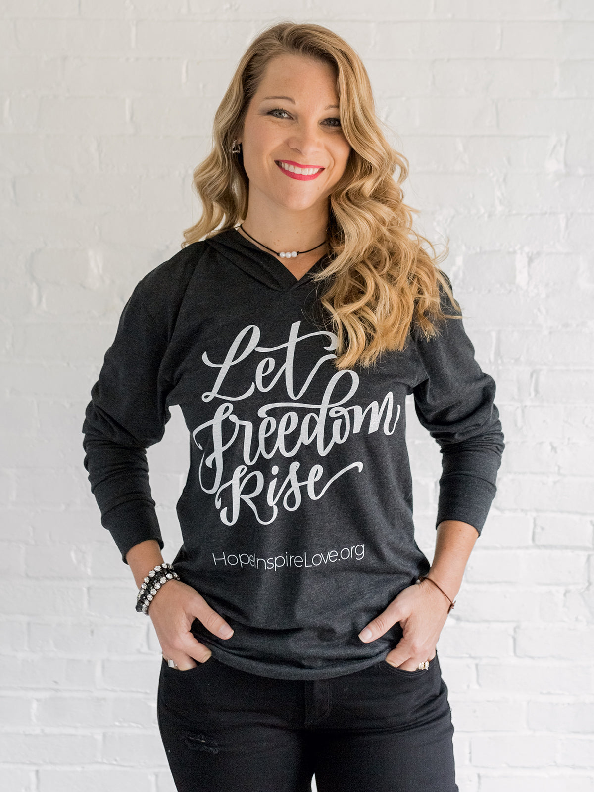 Let Freedom Rise Hoodie - Slate/Charcoal - Unisex