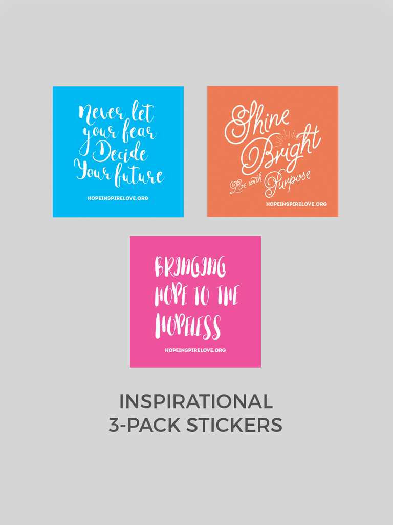 Inspirational Stickers - 3-Pack
