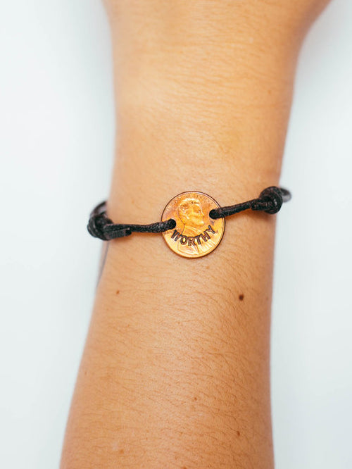 Penny Bracelet with Knot