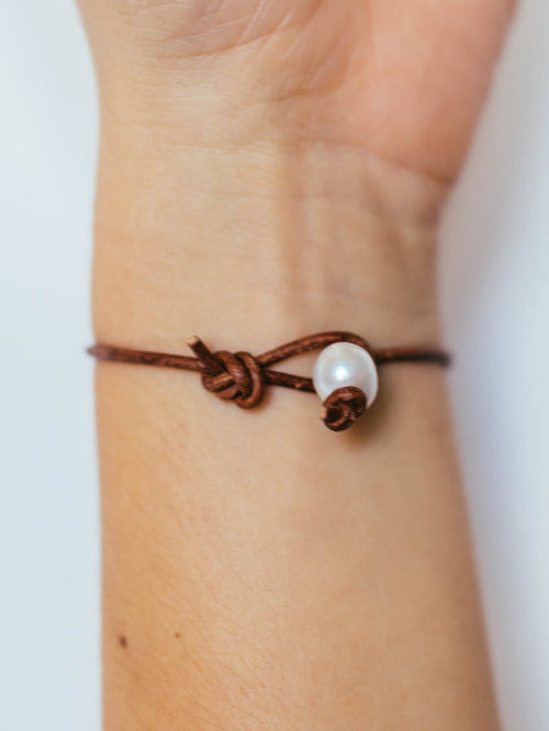 Penny Bracelet with Pearl