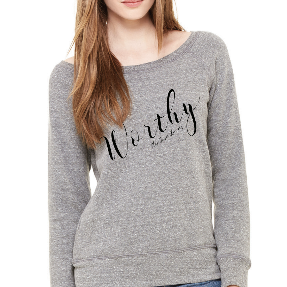 Worthy Scoop Neck Sweatshirt - Wave Washed Grey
