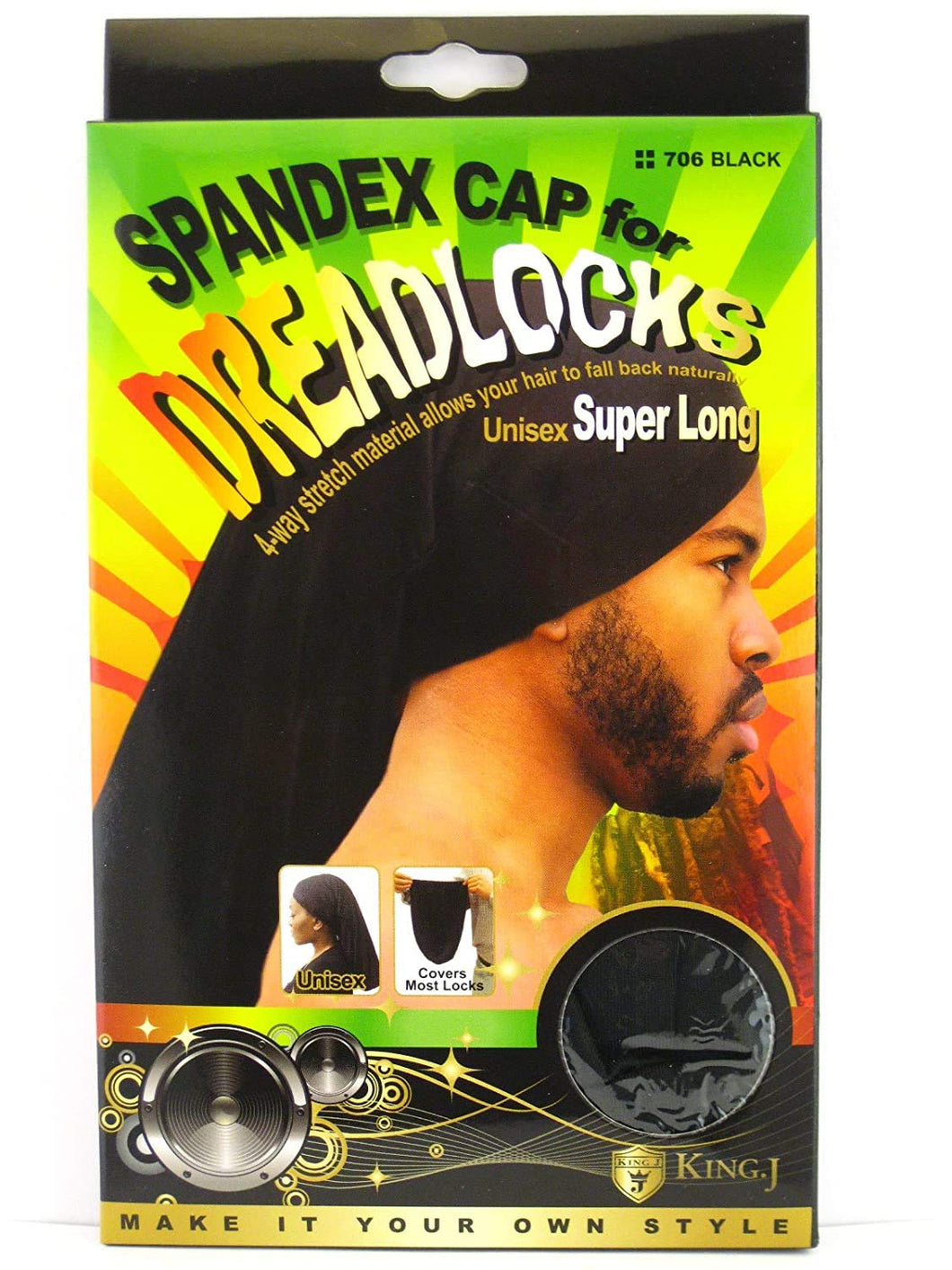 Spandex Cap for Dreadlocks (unisex Super Long)
