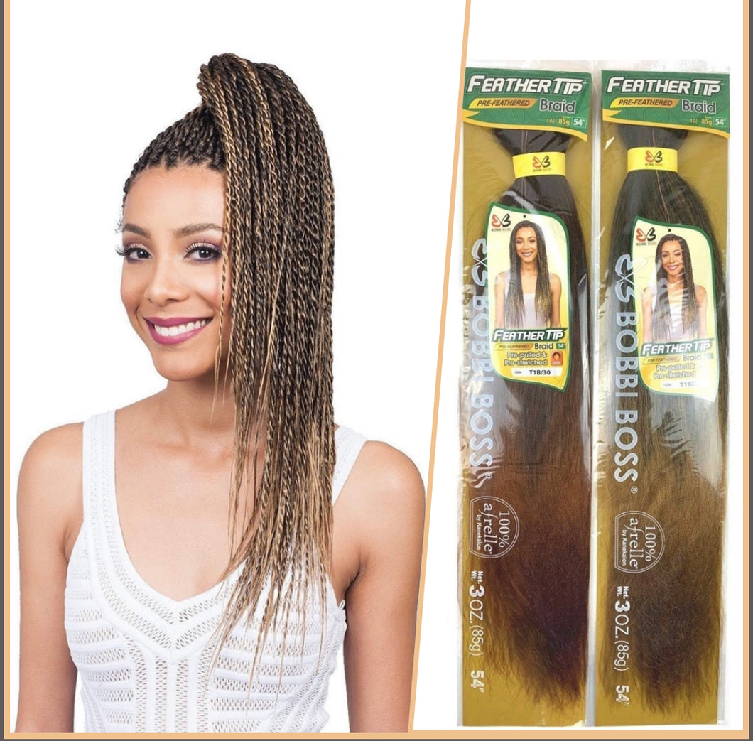 Bobbie Boss- Feather Tip Pre- Feather Braids