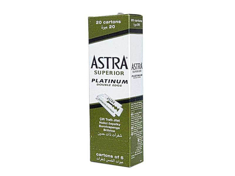 Astra Superior Platinum Double Edged (20 Cartons)
