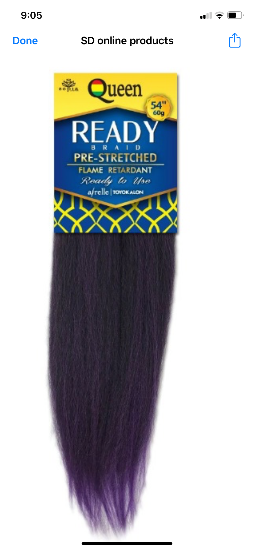 Queen Ready Braid     54''