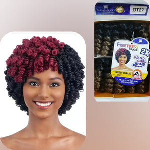Freetress Braids- Wand Curl Braids (2x)