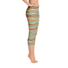 Abstract Capri leggings, Workout Pants 'Striped Horizontal'