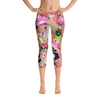 Abstract Capri leggings, Workout Pants 'CFloral 01'