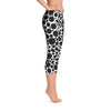 Abstract Capri leggings, Workout Pants 'BW Inverted Bubbles'