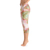 Abstract Capri leggings, Workout Pants 'Organic in Pink'