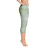 Abstract Capri leggings, Workout Pants 'Green Abstract'