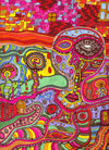 psychedelic visionary art the wall