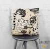 Artist Throw Pillow 'Stained 01'