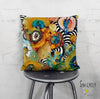 Abstract Mixed media throw Pillow 'Energy Abstract'