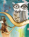 Wall Art Tapestry 'Surreal Owl I'