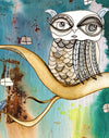 Art Print on Canvas 'Surreal Owl 1'
