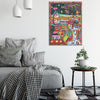 Art Print on Canvas 'Rose Street'