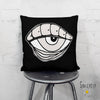 'EYE SEE YOU 02' REVERSIBLE Suede Pillow (2 PILLOWS IN ONE!)