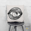 'EYE SEE YOU 03' REVERSIBLE Suede Pillow (2 PILLOWS IN ONE!)