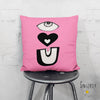 'EYE LOVE YOU' Throw Pillow Pink