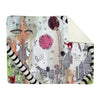 Thick Sherpa Fleece Blanket 'Female Hello'
