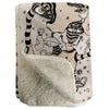 Thick Sherpa Fleece Blanket 'Stained 01'