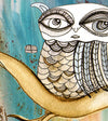 Giclee Art Print 'Surreal Owl III'
