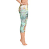 Abstract Capri leggings, Workout Pants 'Mermaid Tail 02'
