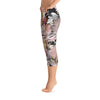 Abstract Capri leggings, Workout Pants 'CFloral 02'