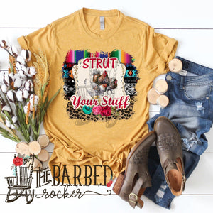 Strut Your Stuff Chicken Women's, Serape, Cheetah Casual T-shirt