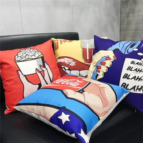 Hot Comics Pillow Cover