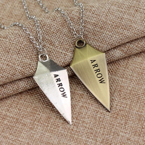 Green Arrow Logo Necklace