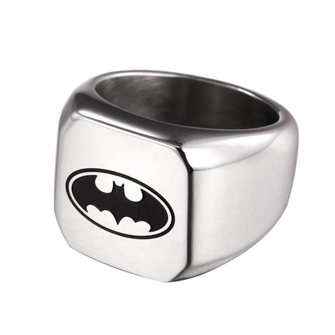 Batman Steel Polished Ring