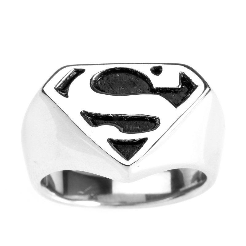 Titanium Steel Superman Ring