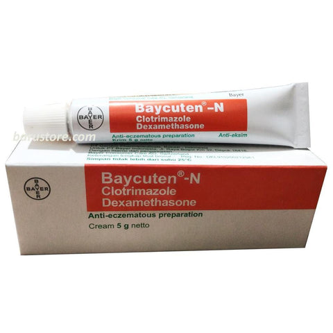 Baycuten -N Cream Clotrimazole Dexamethasone for Anti Eczema