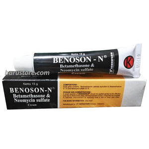 Benoson N Cream - Betamethasone Neomycin Sulphate for itching, redness, psoriasis, dermatitis, eczema