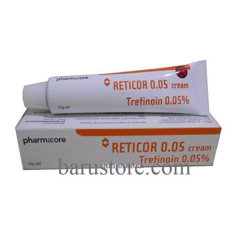 Reticor Tretinoin 0.05% Cream For Acne, Wrinkles, Comedo