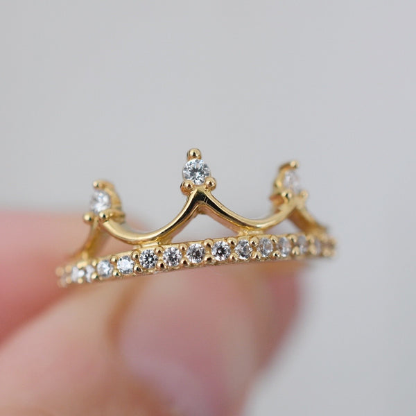 Anillo Crown Promesa Oro 14k AP142A3