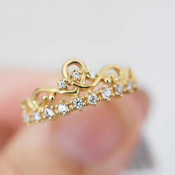 Anillo Crown Promesa Oro 14k AP142A4
