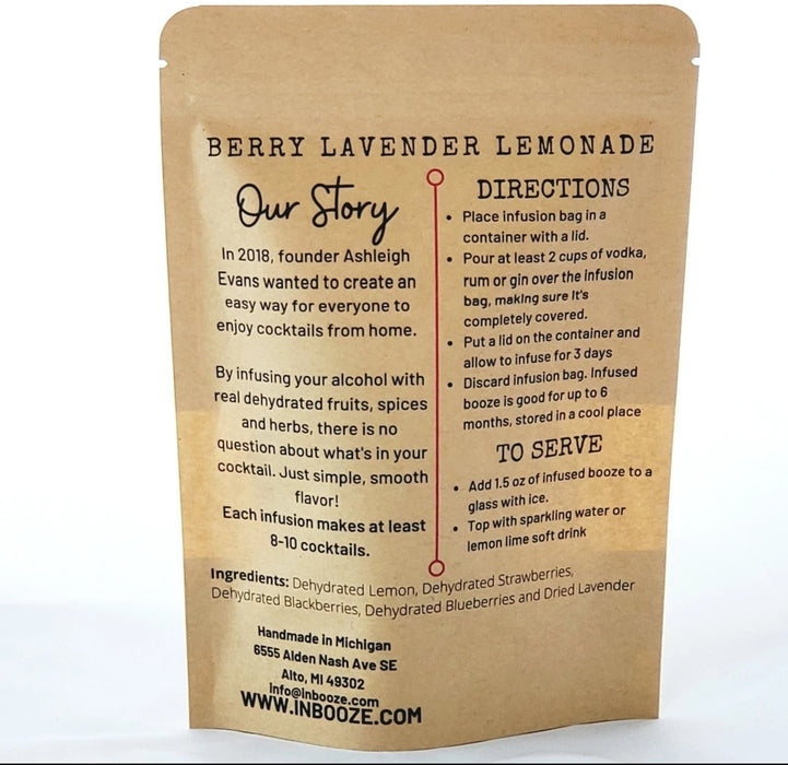 InBooze Berry Lavender Lemonade Infusion Kit