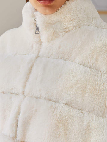 Faux Fur Paneled Coat