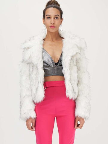 Faux Fur Waterfall Style Coat