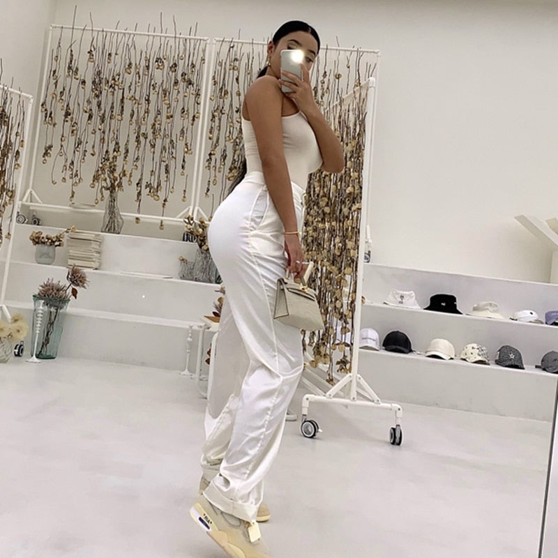 Loose Fit Satin Joggers