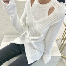 Split Front Cut Out Sweater