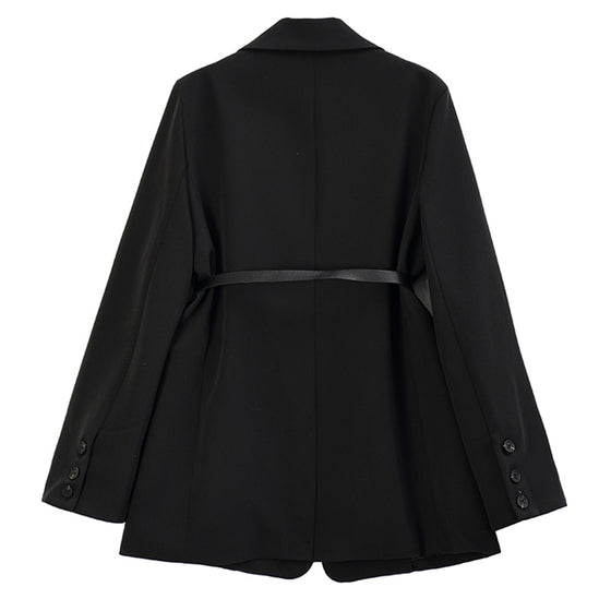 Pouch Belt Oversized Black Blazer