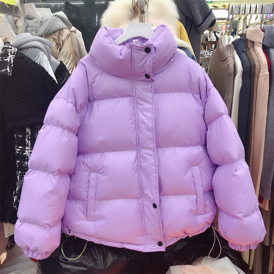 Zip Up Oversized Puffer Coat