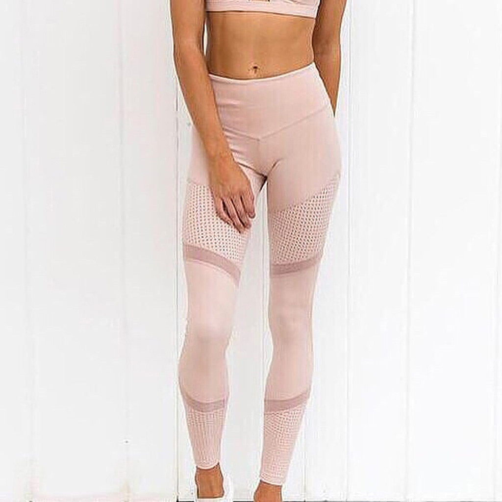 Light Pink Paneled Leggings