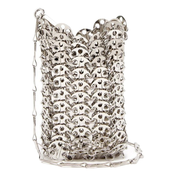 Silver Metal Mini Crossbody Bag