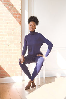 Knitted Turtleneck Sweater and Leggings